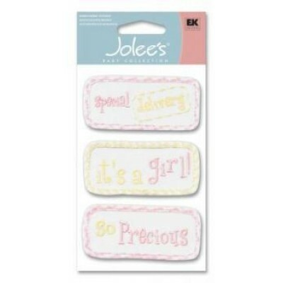 Cartela Adesivos - Girl Quilts - Jolees Boutique