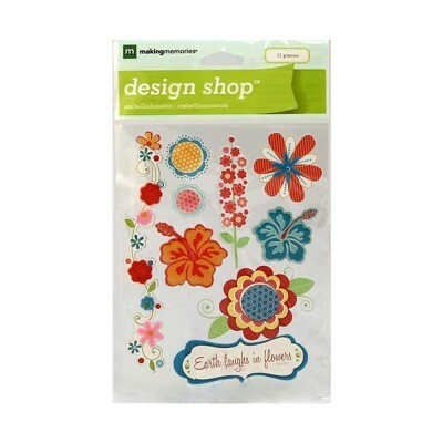 Cartela de Adesivos - Stickers Nature Summer Flowers
