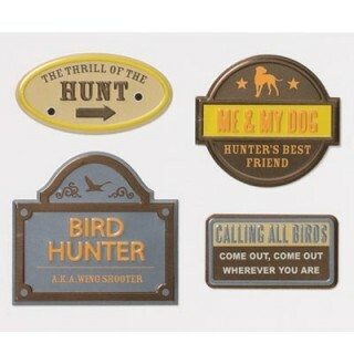 Apliques em Metal - Vintage Signs - Bird Hunting