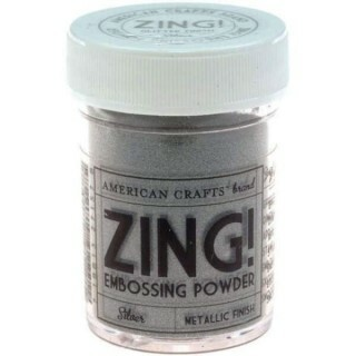 Pó para Emboss - Zing Embossing Powder - Metallic Finish - Silver