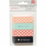 Kit Borrachas Decoradas - Printed Erasers c/ 4 unidades - American Crafts