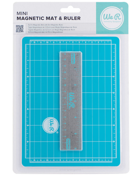Mini Base de Corte Magnética - Magnetic Mat and Ruller