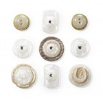 Cartela de Adesivos - Layered Mother of Pearl - Buttons