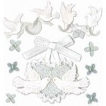 Cartela de Adesivos - Doves - Jolees Boutique