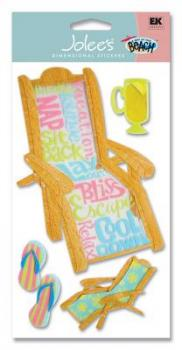 Cartela de Adesivos - Beach Chair - Jolees Boutique