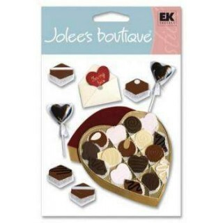 Cartela de Adesivos - Chocolate heart - Jolees Boutique