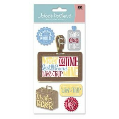 Cartela de Adesivos - Luggage Tag - Jolees Boutique