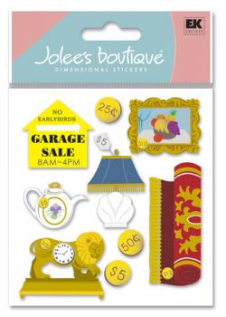 Cartela de Adesivos - Garage Sale - Jolees Boutique