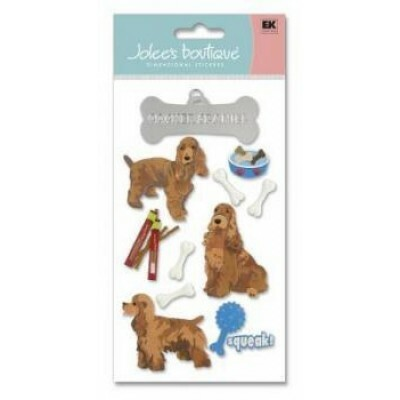 Cartela de Adesivos - Cocker Spaniel - Jolees Boutique