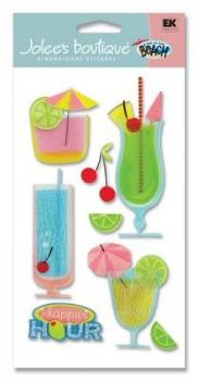 Cartela de Adesivos - Trop Drinks - Jolees Boutique