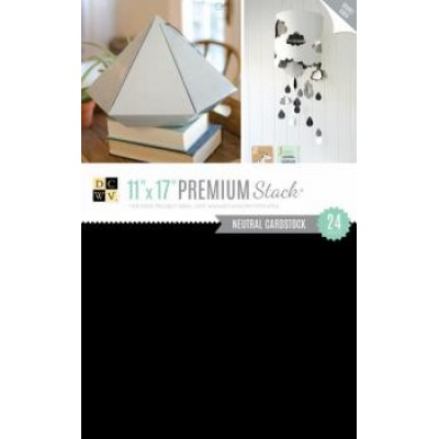 Kit de Papéis Premium Stack - Double Sided Black White Grey c/ 24 unidades - 27,9x43,1cm