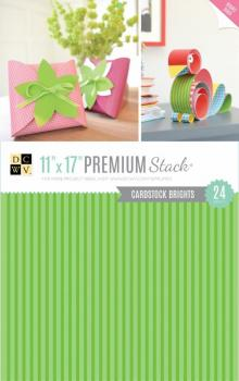 Kit de Papéis Premium Stack - Double Sided Brights c/ 24 unidades - 27,9x43,1cm