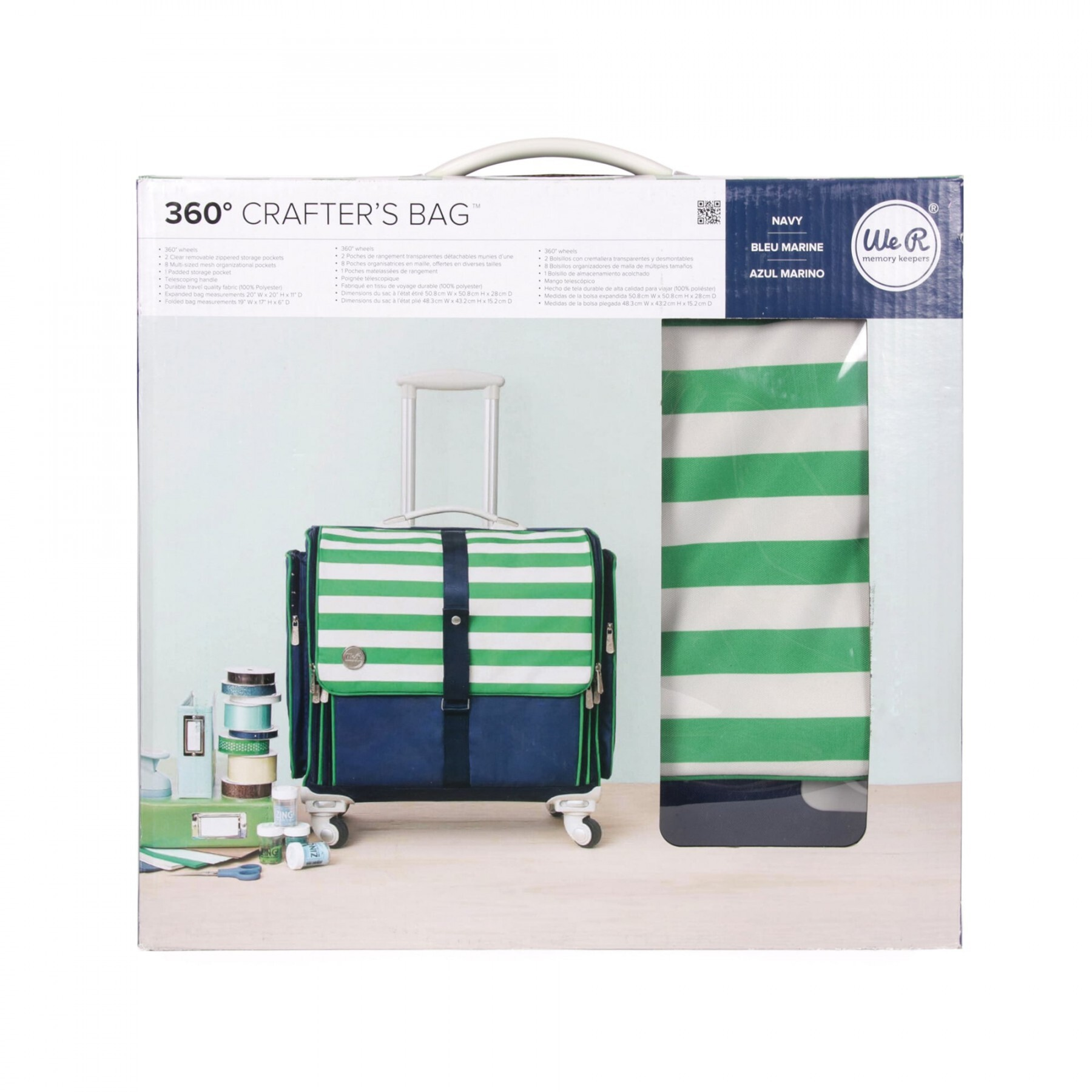 Mala Organizadora 360 Craftes Bag - Navy ( We R Memory Keepers )