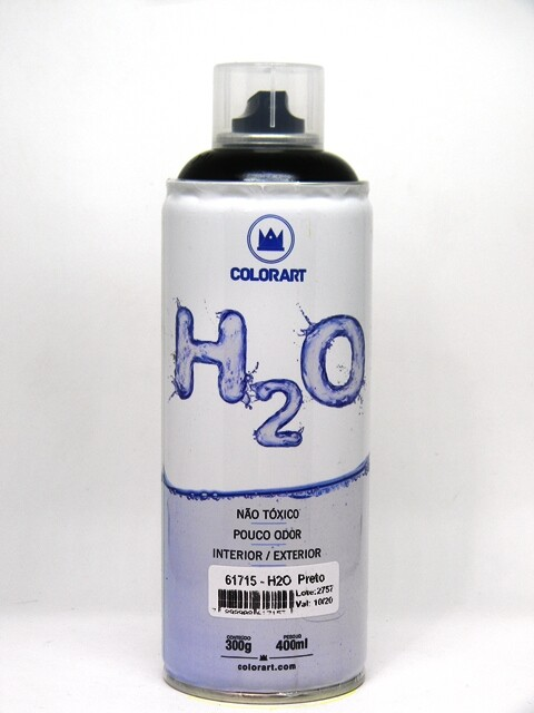Tinta Spray H2O 400 ml - Preto