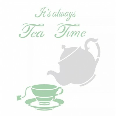 Stencil - Tea Time - 20X25cm