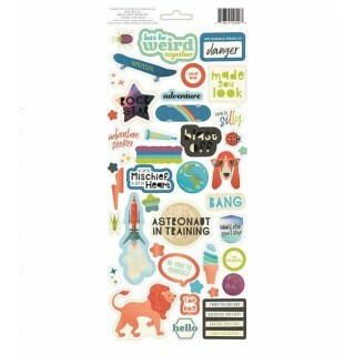 Cartela de Adesivos - Wild Child Cardstock Stickers Boy