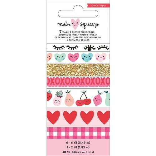 Washi Tape - Main Squeeze - c/ 7 unidades - Crate Paper