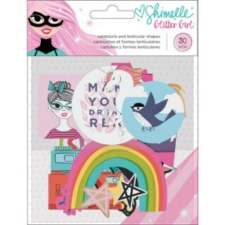Apliques e Chipboards Holográficos - Shimelle Glitter Girl