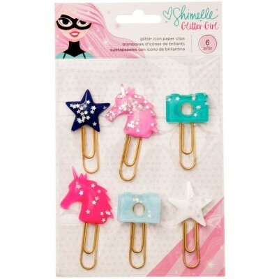 Paper Clips - Glitter Icon - Shimelle Glitter Girl c/ 6 unidades