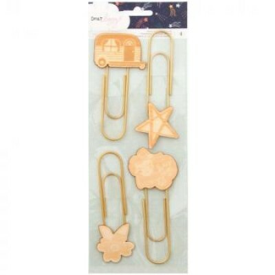 Paper Clips Gigante - Wood Icon Paper Clips - Dear Lizzy c/ 4 unidades