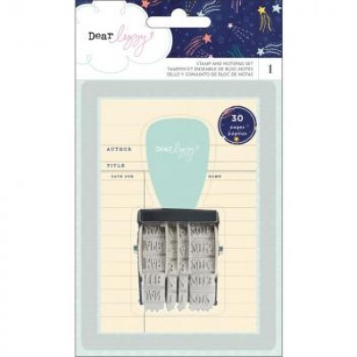 Carimbo Rotativo - Stamp and Notepad Set - Dear Lizzy