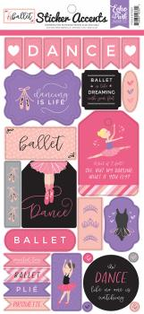 Cartela de Adesivos - Sticher Accents - Ballet