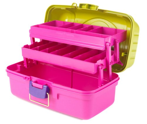 Organizador de Plástico Creative Options - Pink e Verde - Two Tray Box