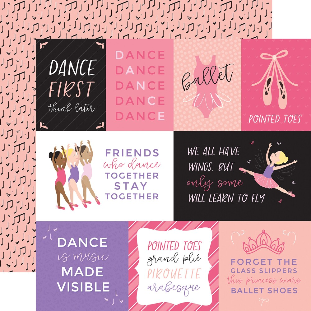 Papel Ballet - Journaling Cards - 180gr 30,5x30,5