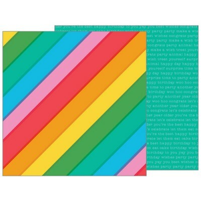 Papel Rainbowtastic - Happy Hooray - 30,5x30,5