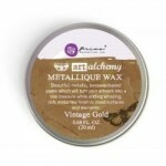 Gel Envelhecedor para Metais - Metallique Wax Cire - Vintage Gold
