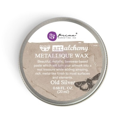 Gel Envelhecedor para Metais - Metallique Wax Cire - Old Silver