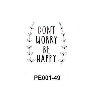 Placa de Emboss Don\'t Worry Be Happy - Art e Montagem - (15cm x 10,6cm)