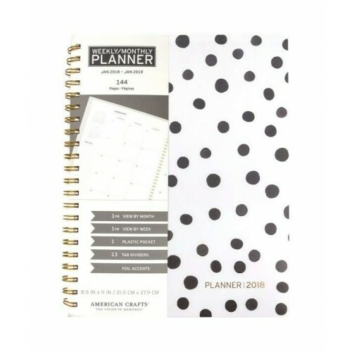 Caderno Planner - Weekly Monthly - American Crafts