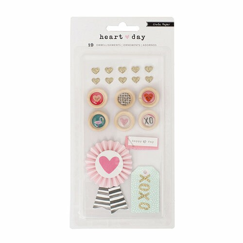 Apliques para Scrapbook Heart Day Colecttion