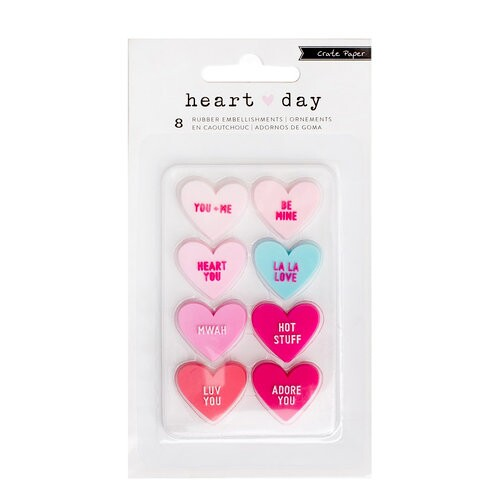 Apliques  de Borracha para Scrapbook - Heart Day Colecttion