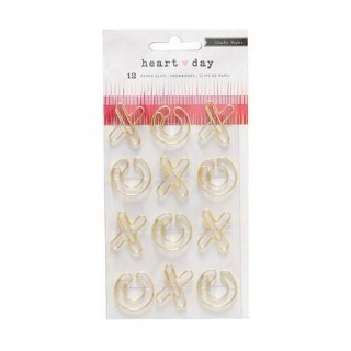 Clips de papel - XO - Heart Day Collection