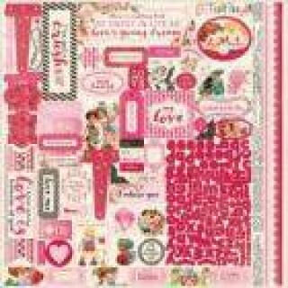 Folha de Adesivo Adore - Authentique Collection - 30,5x30,5
