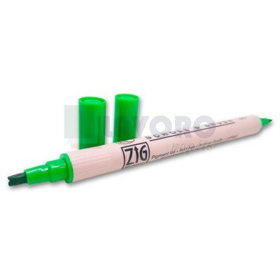 Marcador de Caligrafia Verde - Scroll e Brush