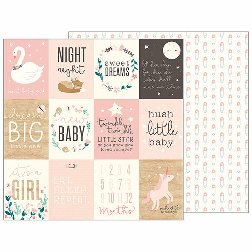 Papel Sweet Baby Girl - Pebbles - Night Night Collection - 30,5x30,5