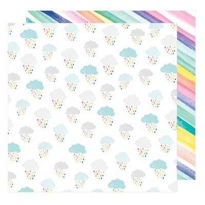 Papel Awesome Possum - American Crafts - Stay Colorful Collection - 30,5x30,5