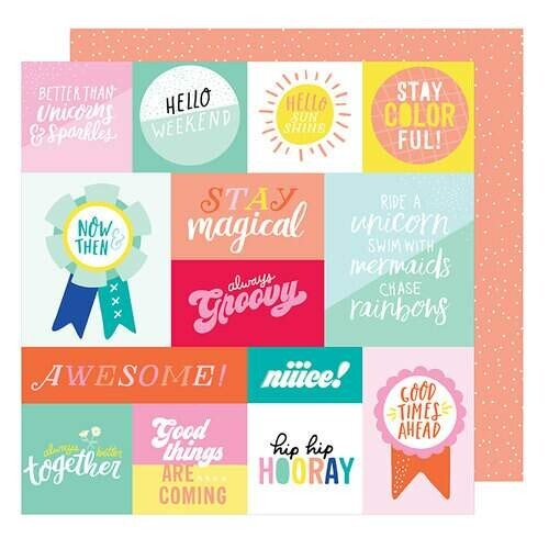 Papel Radical - American Crafts - Stay Colorful Collection - 30,5x30,5
