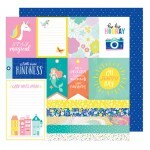 Papel Jive Talkin - American Crafts - Stay Colorful Collection - 30,5x30,5
