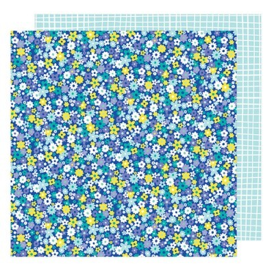 Papel Bellbottom Blue - American Crafts - Stay Colorful Collection - 30,5x30,5