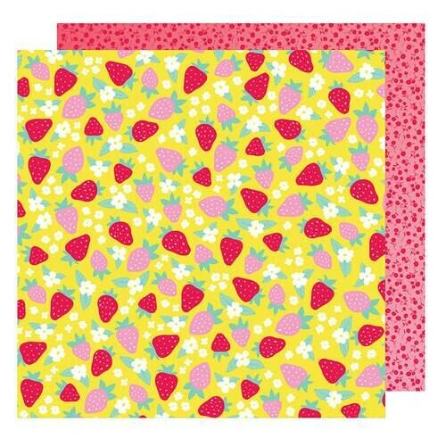 Papel Retro Garden - American Crafts - Stay Colorful Collection - 30,5x30,5
