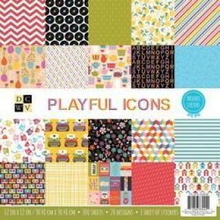 Paper Pads 35,5x35,5 - Playful Icons (100 Folhas)