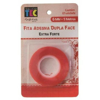 Fita Adesiva Dupla Face Extra Forte - 6mm X 5m