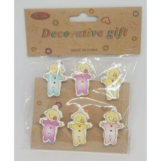 Kit Mini Pregadores Decorativos - Baby 6 Un