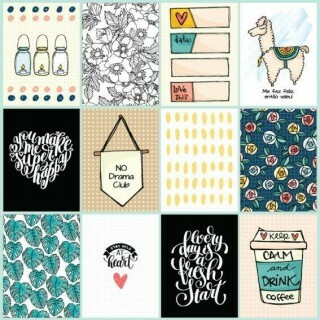 Papel Cards Bem Estar - Goodies - Bem Estar Collection - 30,5x30,5