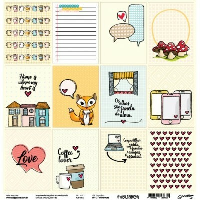 Papel #AmoMuito - Goodies - #Voltamos Colection - 30,5x30,5