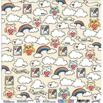 Papel Fly Me To The Clouds- Goodies - Over The Rainbow Colection - 30,5x30,5